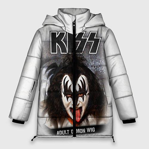 Женская зимняя куртка KISS: Adult demon wig / 3D-Черный – фото 1