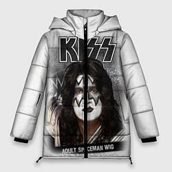 Куртка зимняя женская KISS: Adult spaceman wig цвета 3D-черный — фото 1