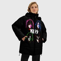 Куртка зимняя женская KISS: Acid Colours цвета 3D-черный — фото 2