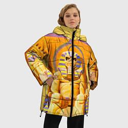 Женская зимняя 3D-куртка с капюшоном с принтом Iron Maiden: Pharaon, цвет: 3D-черный, артикул: 10089880106071 — фото 2