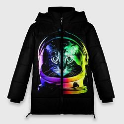 Куртка зимняя женская Кот космонавт - фото 1