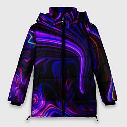 Куртка зимняя женская Цветные разводы цвета 3D-черный — фото 1