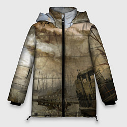 Женская зимняя 3D-куртка с капюшоном с принтом S.T.A.L.K.E.R: Toxic Heaven, цвет: 3D-черный, артикул: 10091870906071 — фото 1