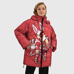 Женская зимняя 3D-куртка с капюшоном с принтом Death Mangle, цвет: 3D-черный, артикул: 10093560506071 — фото 2