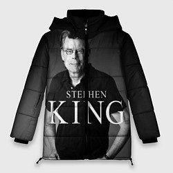 Женская зимняя 3D-куртка с капюшоном с принтом Стивен Кинг, цвет: 3D-черный, артикул: 10095786506071 — фото 1