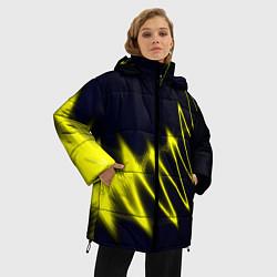 Куртка зимняя женская Молния цвета 3D-черный — фото 2