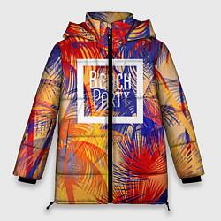 Женская зимняя 3D-куртка с капюшоном с принтом Beach Party, цвет: 3D-черный, артикул: 10096481606071 — фото 1