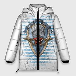 Женская зимняя 3D-куртка с капюшоном с принтом ВДВ, цвет: 3D-черный, артикул: 10099218506071 — фото 1