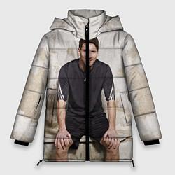 Женская зимняя 3D-куртка с капюшоном с принтом Улыбчивый Месси, цвет: 3D-черный, артикул: 10099708706071 — фото 1
