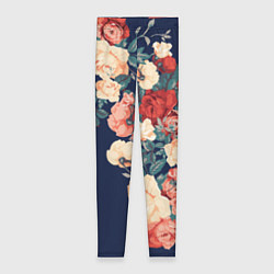 Леггинсы женские Fashion flowers цвета 3D — фото 1
