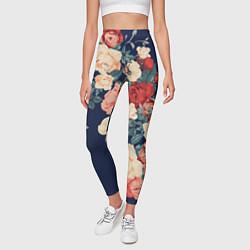 Леггинсы женские Fashion flowers цвета 3D-принт — фото 2