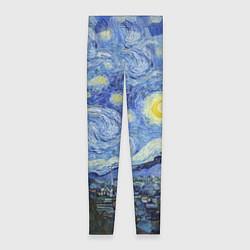 Леггинсы женские Звездная ночь цвета 3D — фото 1