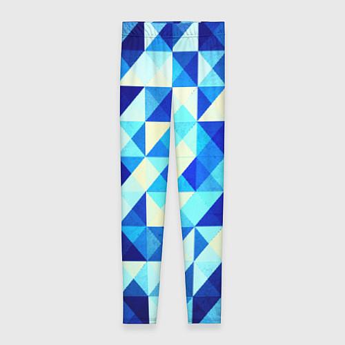 Женские леггинсы Синяя геометрия / 3D – фото 1