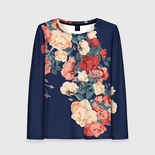 Женский лонгслив Fashion flowers / 3D – фото 1