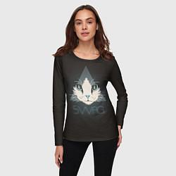 Лонгслив женский Cat цвета 3D — фото 2