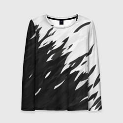 Лонгслив женский Black & white цвета 3D-принт — фото 1