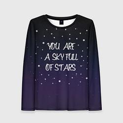 Лонгслив женский Coldplay: Night Sky цвета 3D-принт — фото 1