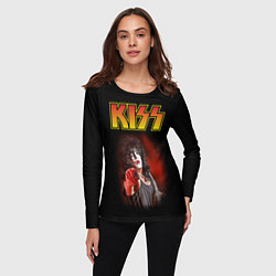 Лонгслив женский KISS: Paul Stanley цвета 3D — фото 2