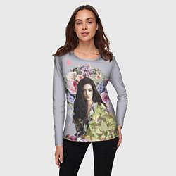 Лонгслив женский Lorde Floral цвета 3D-принт — фото 2