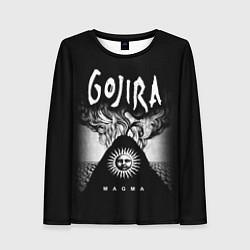 Лонгслив женский Gojira: Magma цвета 3D-принт — фото 1