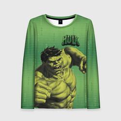 Лонгслив женский Hulk цвета 3D-принт — фото 1