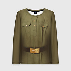 Лонгслив женский Униформа солдата цвета 3D-принт — фото 1