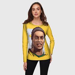 Лонгслив женский Ronaldinho Art цвета 3D-принт — фото 2