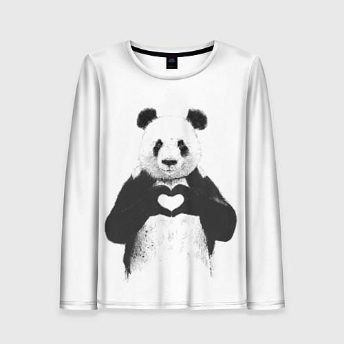 Женский лонгслив Panda Love / 3D – фото 1