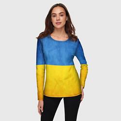 Лонгслив женский Украина цвета 3D — фото 2