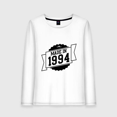 Женский лонгслив Made in 1994 / Белый – фото 1