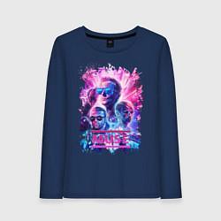Лонгслив хлопковый женский Muse цвета тёмно-синий — фото 1