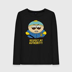 Лонгслив хлопковый женский South Park, Эрик Картман цвета черный — фото 1