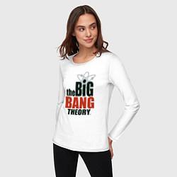 Лонгслив хлопковый женский Big Bang Theory logo цвета белый — фото 2