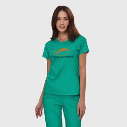 Пижама хлопковая женская A State of Trance цвета зеленый — фото 2