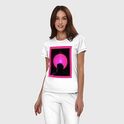 Пижама хлопковая женская Blade Runner 2049 цвета белый — фото 2