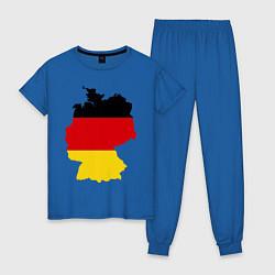 Пижама хлопковая женская Германия (Germany) цвета синий — фото 1