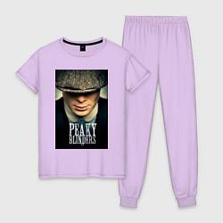Пижама хлопковая женская Peaky Blinders цвета лаванда — фото 1