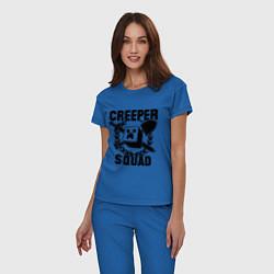 Пижама хлопковая женская Creeper Squad цвета синий — фото 2