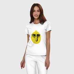 Пижама хлопковая женская John Lemon цвета белый — фото 2
