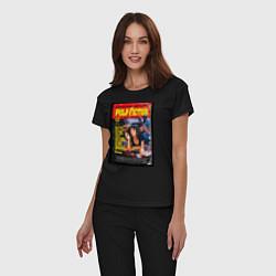 Пижама хлопковая женская Pulp Fiction Cover цвета черный — фото 2