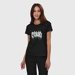 Пижама хлопковая женская WITTR цвета черный — фото 2