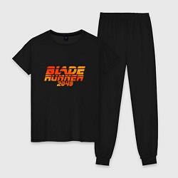 Пижама хлопковая женская Blade Runner 2049 цвета черный — фото 1