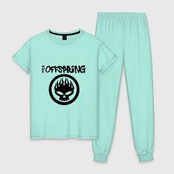Пижама хлопковая женская The Offspring цвета мятный — фото 1