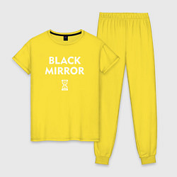 Пижама хлопковая женская Black Mirror: Loading цвета желтый — фото 1