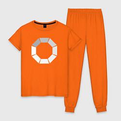 Пижама хлопковая женская Loading цвета оранжевый — фото 1