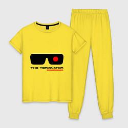 Пижама хлопковая женская The Terminator цвета желтый — фото 1