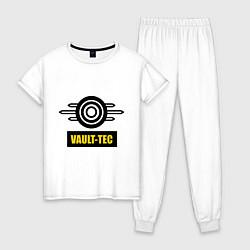 Пижама хлопковая женская Vault-tec цвета белый — фото 1