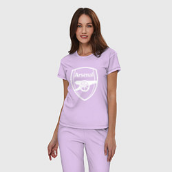 Пижама хлопковая женская FC Arsenal цвета лаванда — фото 2