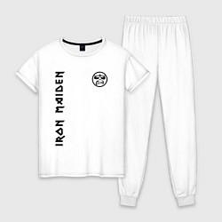 Пижама хлопковая женская Iron Maiden Style цвета белый — фото 1