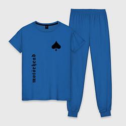 Пижама хлопковая женская Motrhead Peak цвета синий — фото 1
